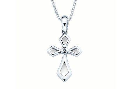 Современный крест из серебра